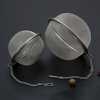 New Stainless Steel Ball Tea Strainer Infuser Mesh Filter Loose Leaf Spice