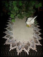 "35"" Dresser Scarf Table Runner Doily FEATHER LACE"