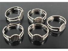 30 Ringe Rohlinge Ringrohlinge Silber plattiert verstellbar 8mm Basisring* NEU
