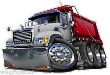 Mack Dump Truck 4x4 Diesel Turbo Fire Boys Room Wall Graphic Man Cave Decal NEW
