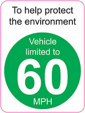 [ 120x160mm ] LIMITED TO 60 MPH   TO HELP PROTECT THE ENVIRONMENT - VAN/WAGGON