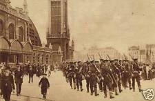 "British Royal Marines Marching Through Ostend Belgium World War 1, 6x4"" Reprint"