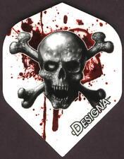 Skull and Bones Blood Splatter Dart Flights: 3 per set