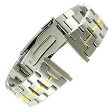16-22mm Speidel Express Two Tone Stainless Steel Divers Clasp Watch Band 1003DT