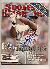 matt lawton Autographed Sports Illistrated SI Signed Twins Indians