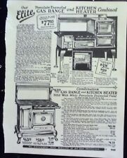 1927 Antique Coal Gas Stove Sears Catalog Page Vintage Print Ad Roaring 20's