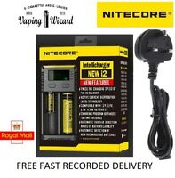 AUTHENTIC Nitecore i2 NEW Intelligent Multi Battery Charger for 18650 20700....
