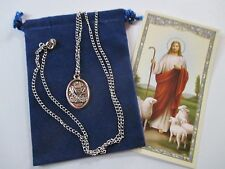 First Holy Communion Saint Medal with 24 inch Necklace, Catholic, Christian