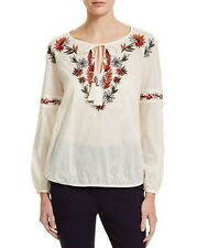 Tory Burch Tunic Ivory Cotton Embroidered Peasant Tunic - NWT Size 6