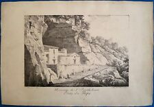 Incunable lithographique, Hermitage de St Bartholoméo, Constant Bourgeois, 1817