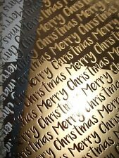 Kanban 3 x A4 Sheets Luxury Foiled Xmas Cardstock. 300gsm (XF21)