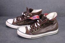 CB833 Converse All Star Two Fold Chucks Hi Sneaker Gr. 42 Leder braun rot Karo