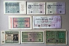 Sammlungsauflösung Posten 8 alte Geldscheine Deutsches Reich -Inflation.... (19)