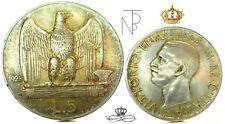 Vittorio Emanuele III (5 Lire 1928**-Due ROSETTE)