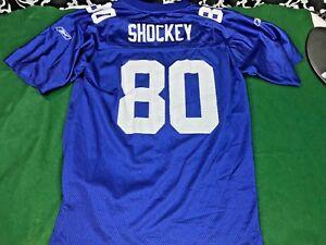 Reebok NFL Equip. NY Giants #80 Jeremy Shockey Boys Jersey - Sz. L (14 - 16)