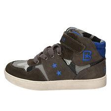 scarpe bambino BLAIKE 31 EU sneakers grigio tessuto camoscio AD696-D