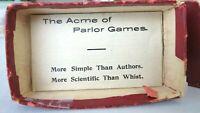Antique Vtg 1913 Flinch Card Game Kalamazoo Dark Red Box Full Deck~Instructions
