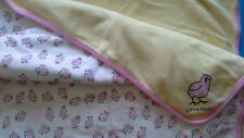 LIFE IS GOOD  Baby Girl Pink Little Chick Baby Blanket GUC