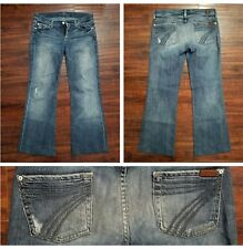 Seven 7 For All Mankind Dojo Women's Jeans Size 26 Medium Wash Flare 26X29