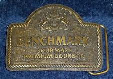 Benchmark Mens Belt Buckle Sour Mash Premium Bourbon Indiana Metal Craft