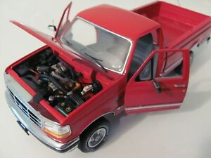 Franklin Mint 1/24th Scale 1996 FORD F-150 XLT PICK-UP Red