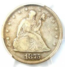 1875-P Twenty Cent Coin 20C - Certified PCGS F15 - Rare Date 1875 Coin!