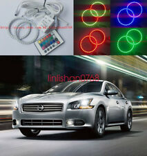 2x Excellent RGB Multi-Color Angel Eyes Halo Rings For Nissan Maxima 2009 - 2014