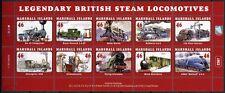 Marshall Inseln 2013 Eisenbahn Trains Railways Steam Locomotive ** MNH