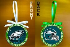 "Philadelphia Eagles - 2018 Super Bowl Champs -3"" Double-Sided Ornament-FREE SHIP"