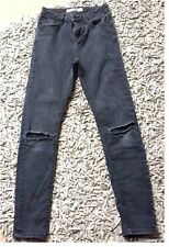 Topshop London Moto petit Jamie W25 L28 destroyed look