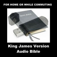 KING JAMES VERSION AUDIO BIBLE. COMPLETE. LISTEN IN YOUR HOME OR WHILE DRIVING