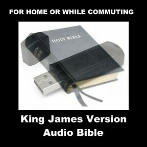 KING JAMES VERSION AUDIO BIBLE ON TWO FLASH DRIVES. FOR HOME OR CAR.