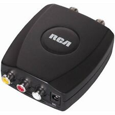RCA/Composite A/V to RF/Coax/Coaxial Converter RF Modulator AV 2 COAX Black New