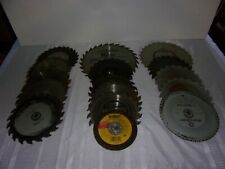 """USED LOT OF CIRCULAR SAW BLADES - 7"""" AND 9"""" - TOTAL OF 15 BLADES - """"AS-IS"""""""