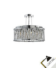 Suspension Luminaire Suspendu Lampe Plafonnier pendant Cristal Métal Chrome Led