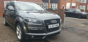 2007 AUDI Q7 3.0 TDI S LINE QUATTRO GREY AUTOMATIC **FULL BLACK LEATHER***