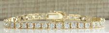 6.60 Carat Natural Diamond 14K Yellow Gold Luxury Tennis Bracelet