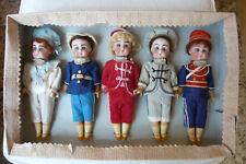 antiker Musterkarton mit 5 Porzellankopfpuppen-Simon & Halbig-Top