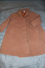 Vintage Laura Ashley Camel Wool Cashmere Fit Flare Swing Princess Dress Coat S