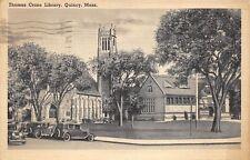 Quincy Massachusetts 1944 Postcard Thomas Crane Library