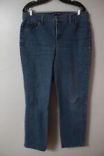 Bandolino Blu Jeans Sz 16 Medium Wash Womens Stretch Cotton Denim Pants