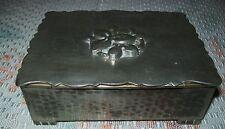 VINTAGE 'ARENDAL' HAMMERED PEWTER CIGARETTE / TRINKET BOX (wood lining)