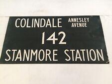 "London Harrow Vintage Linen Bus Blind 36""-142 Colindale Annesley Avenue Stanmore"