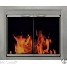Pleasant Hearth Glass Fireplace Door Colby Nickel Small CB-3300 Mesh Screens New