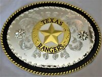 Silver Texas Rangers Bull Cowboy Rodeo Cowboy Western Large Belt Buckle Fashion
