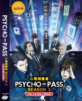 DVD ANIME PSYCHO-PASS Sea 3 Vol.1-8 End + Movie Eng Subs Region All + FREE SHIP