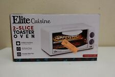 Elite Cuisine Eto-224 Personal 2 Slice Counter top Toaster Oven with Timer (9A)