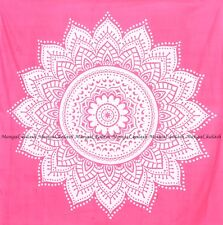 Indian pink ombre tapestry mandala wall hanging hippie bohemian queen bedspreads