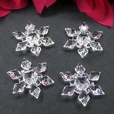 20pcs/lot Wholesale Acrylic  Making DIY Necklace Christmas Snowflake  2.8cm