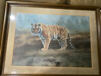 "Charles Frace (1926 - 2005) ""Standing Tiger"" Numbered Print - Hand Signed-Framed"
